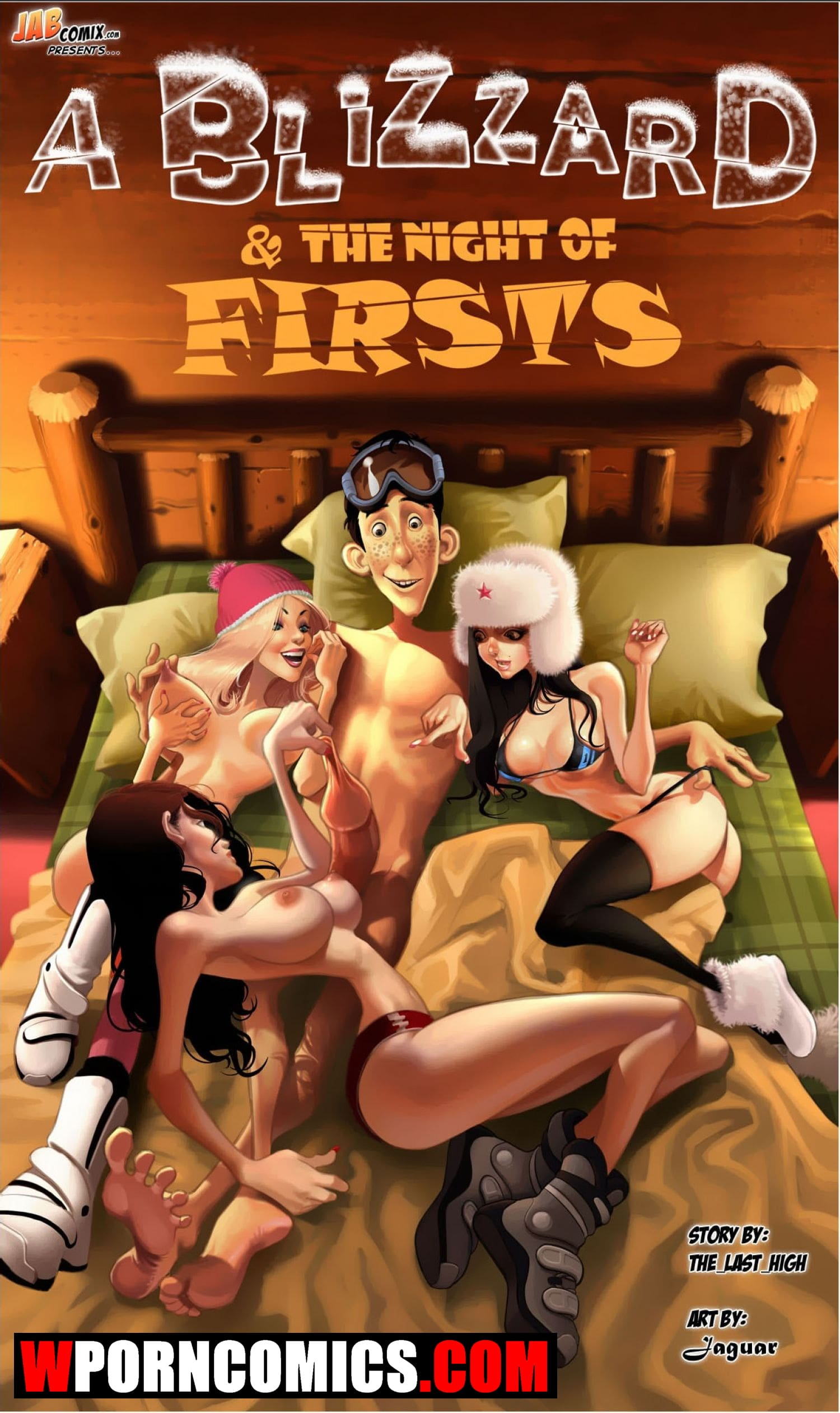 Porn comic A Blizzard and The Night Of Firsts.