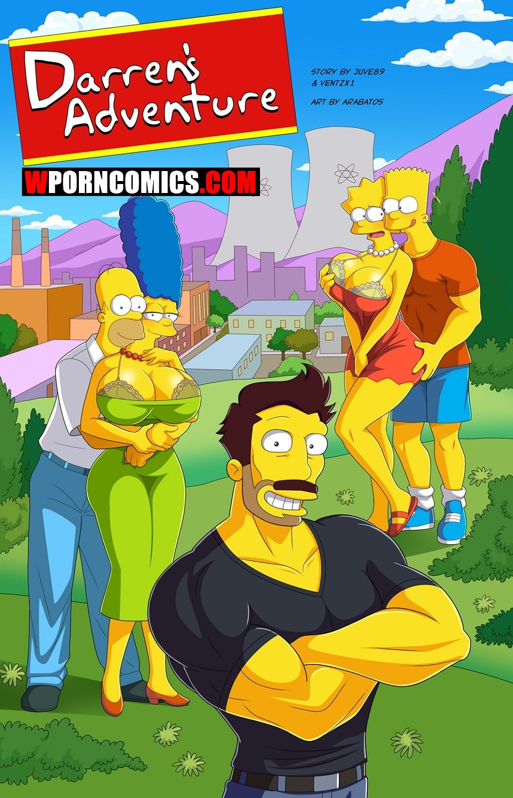 Porn comic Darrens Adventure. Part 6. Simpsons.