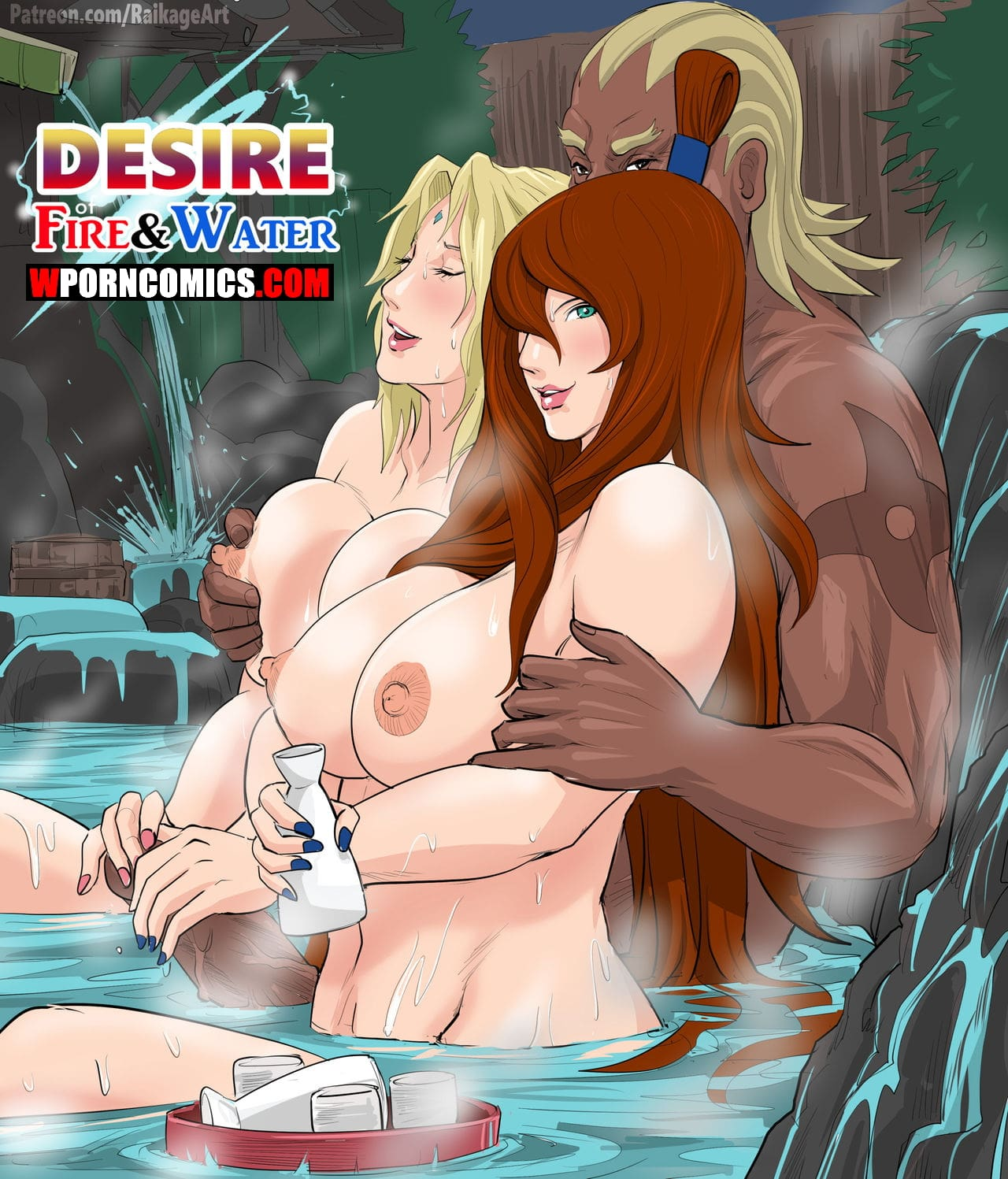 Porn comic Desire of Fire and Water. Naruto.