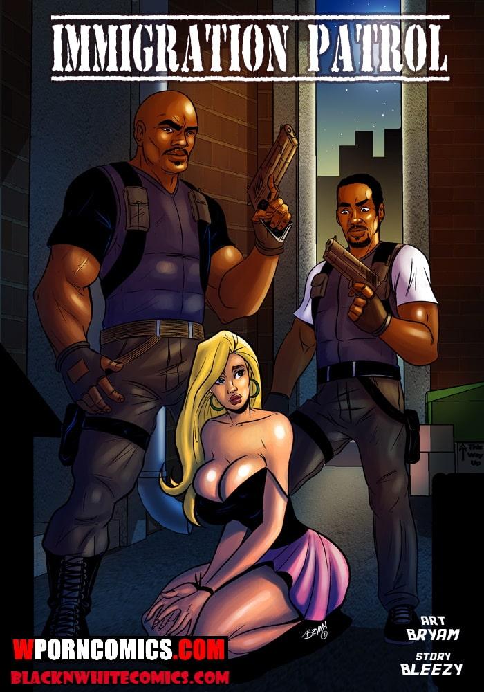Porn comic Immigration Patrol.