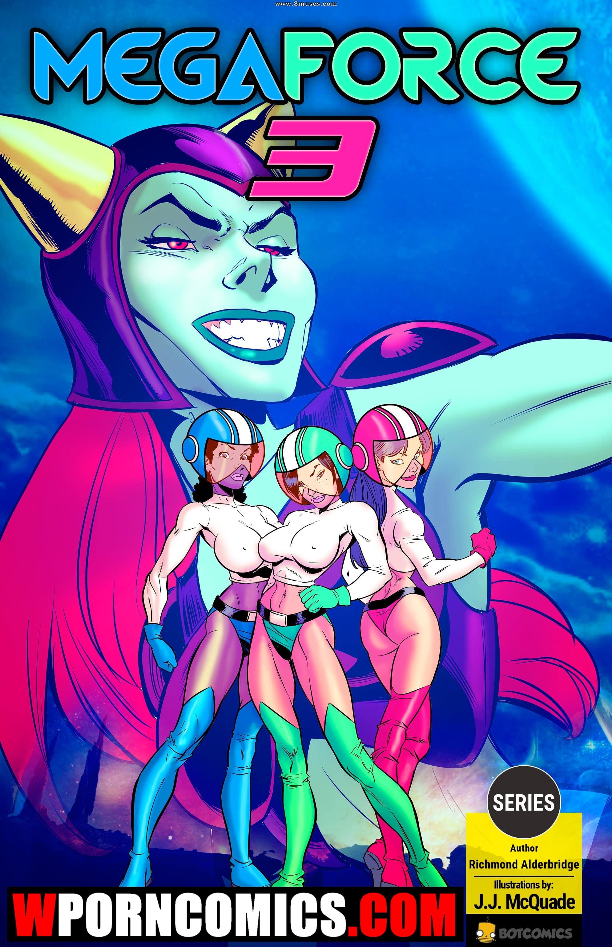 Porn comic Megaforce.