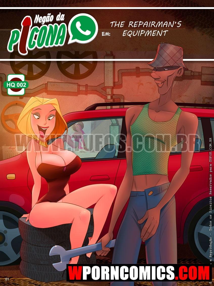 Porn comic Negao Da Picona. Part 2. The Repairmans Equipment.