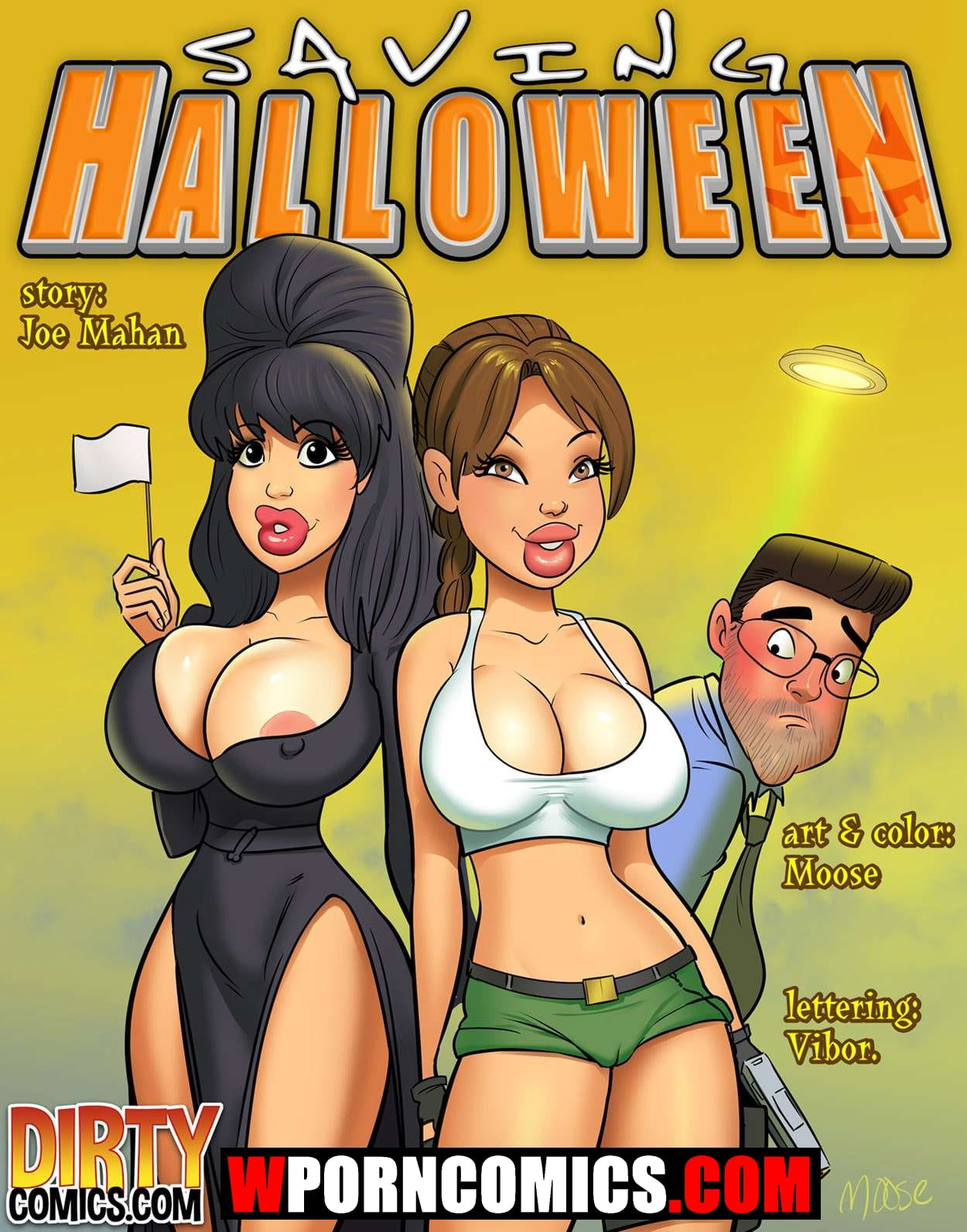Porn comic Saving Halloween.