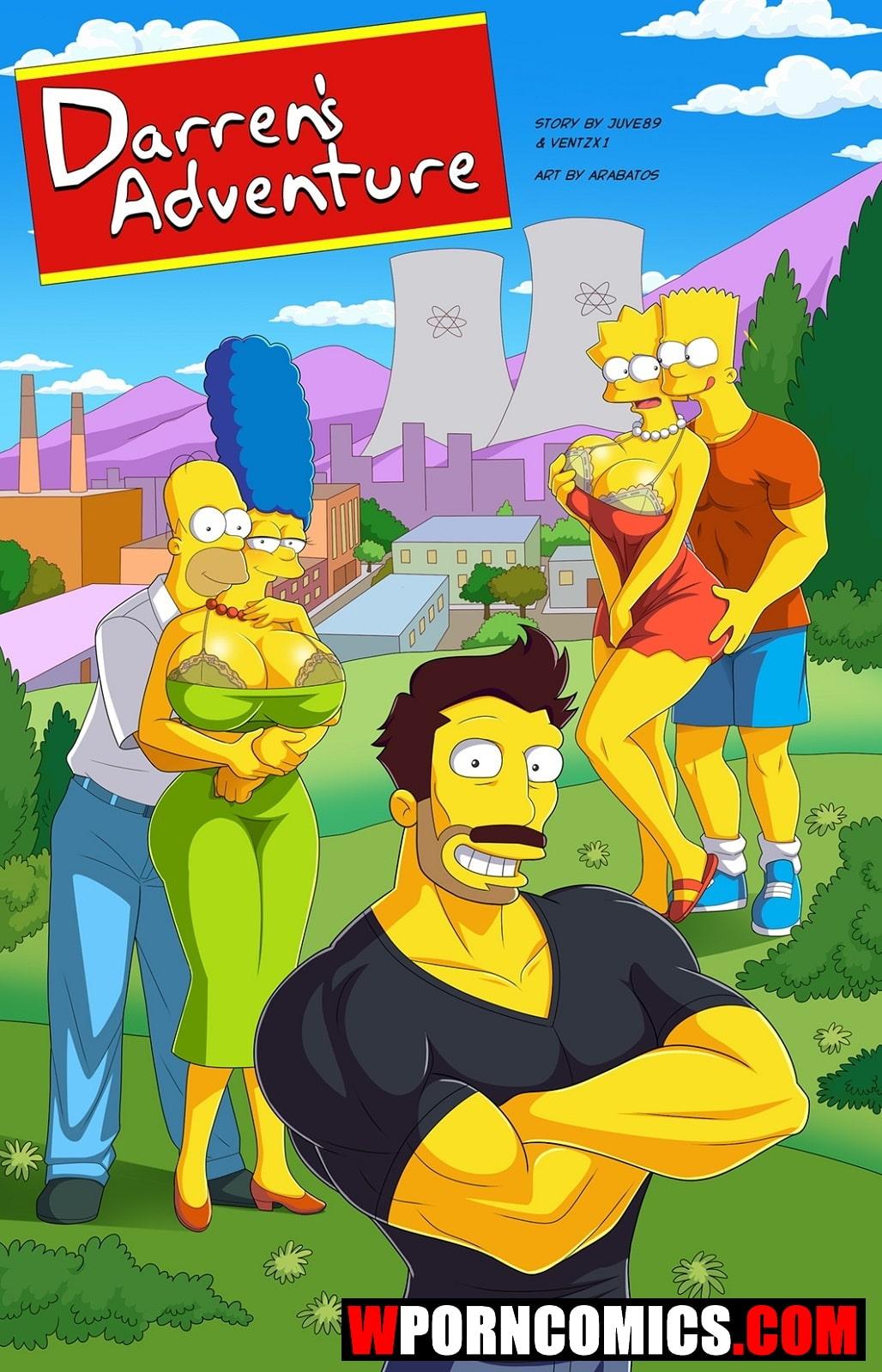 Porn comic Simpsons. Darrens Adventure. Part 4.
