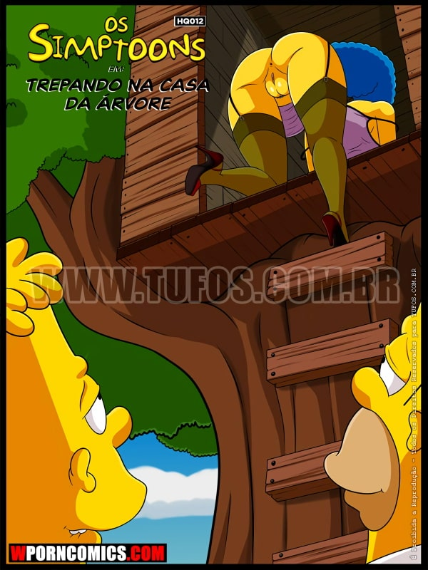 Porn comic Simpsons. Part 12. Fucking in the Treehouse.